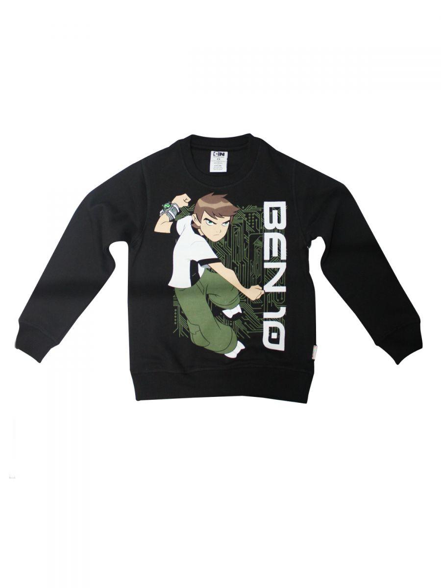 Ben 10 Black Crew Neck Sweatshirt for Boys