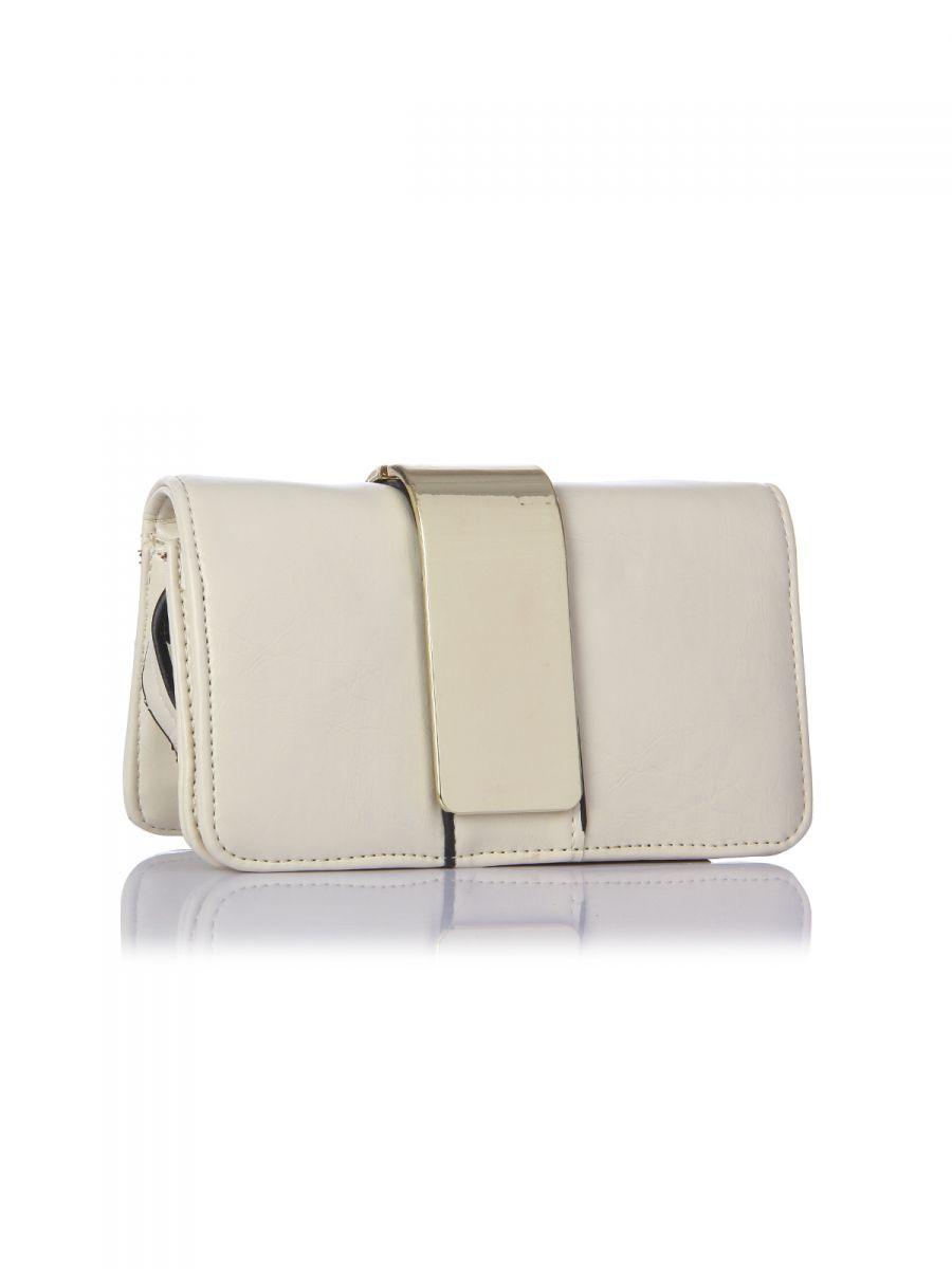 Harpa White Shoulder Bag