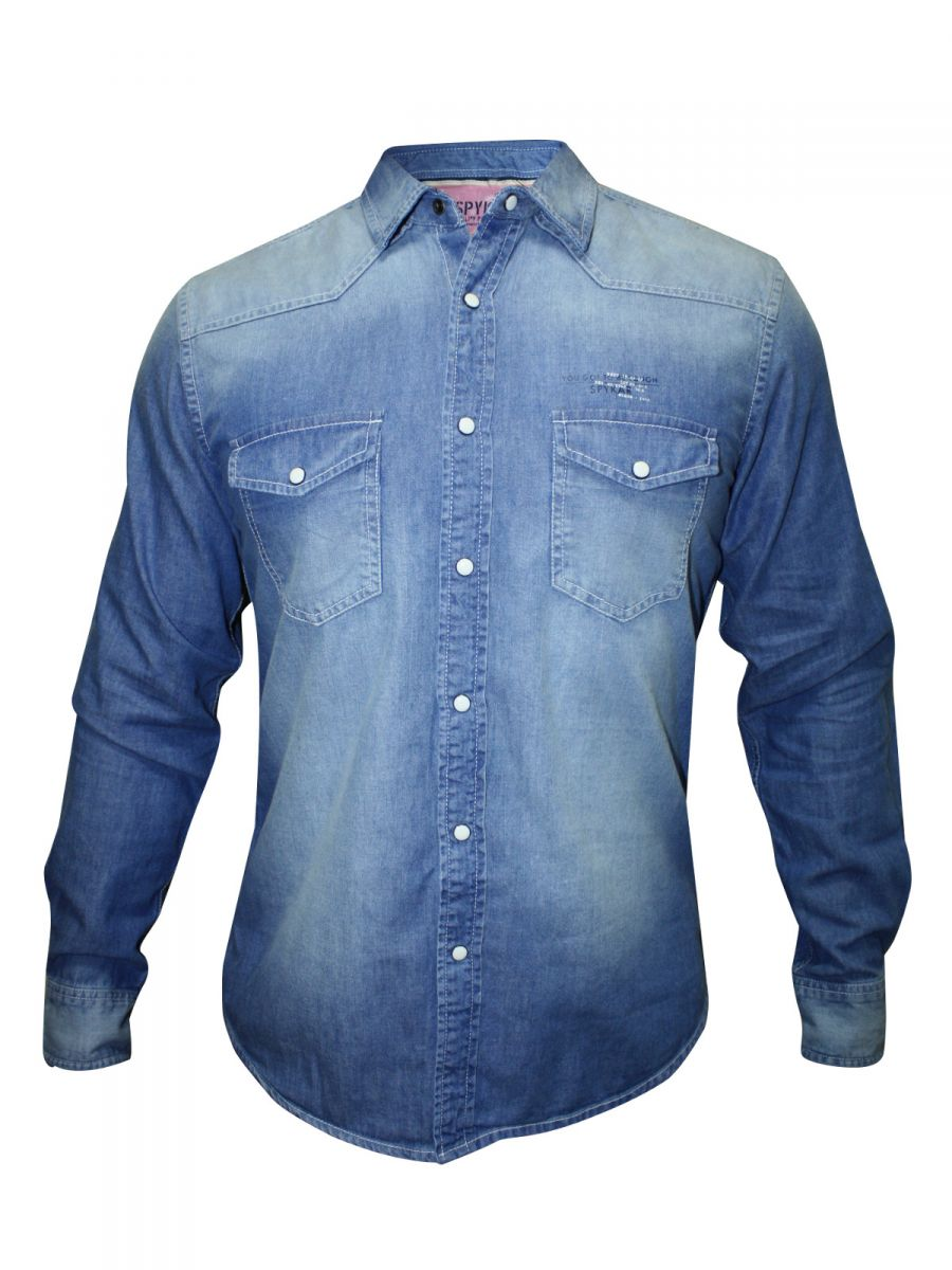 Spykar Denim Light Blue Shirt | Ranger-w14-45-blue | Cilory.com