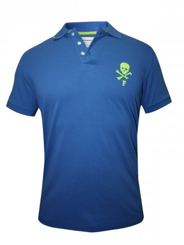 FCUK Blue Polo T Shirt at cilory