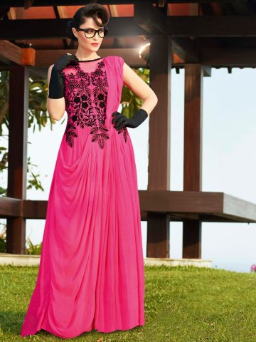 https://static.cilory.com/121332-thickbox_default/stylus-pink-party-wear-semi-stitched-long-gown.jpg
