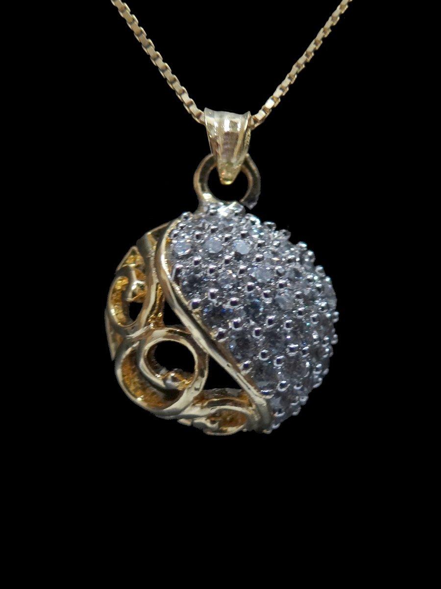 American diamond pendant set m71 adn3 cilory view full size aloadofball Image collections