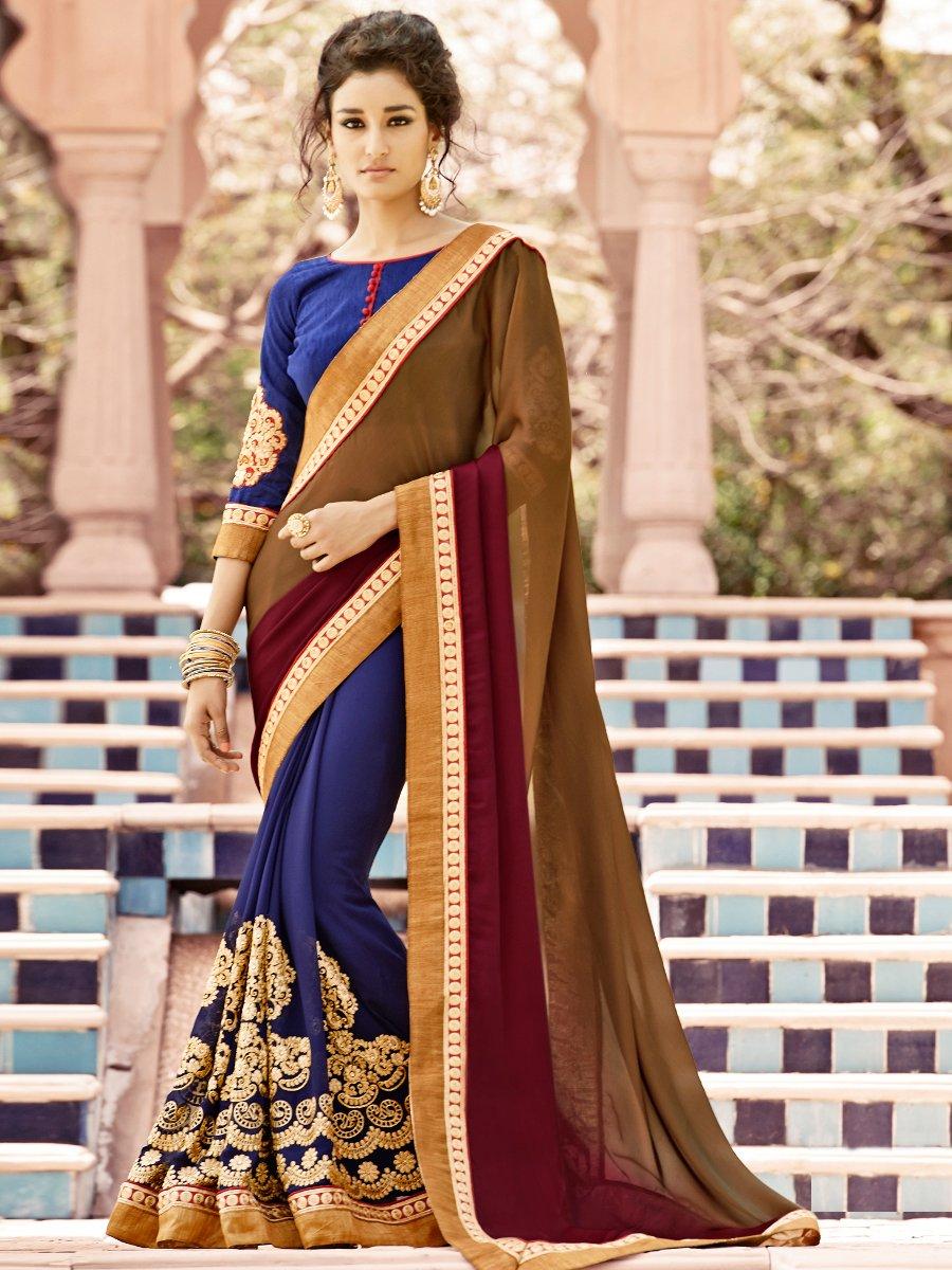 Multicolor Exclusive Designer Partywear Sarees