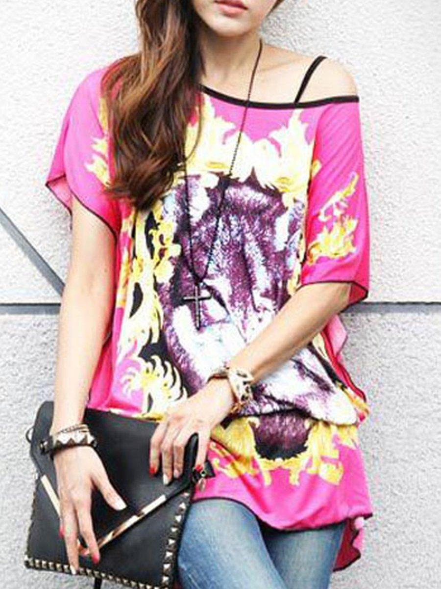 Pink Belted Animal Print Top