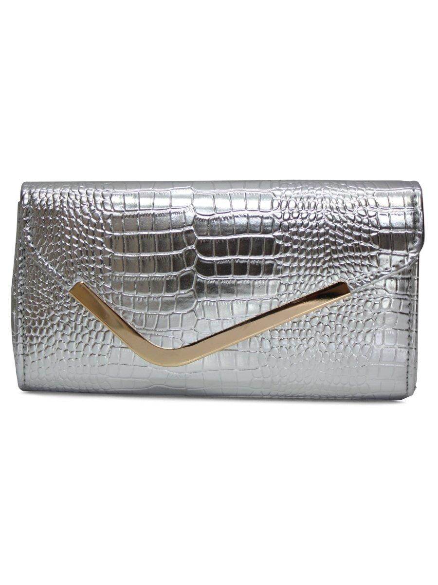 Elegant Silver Women Clutch