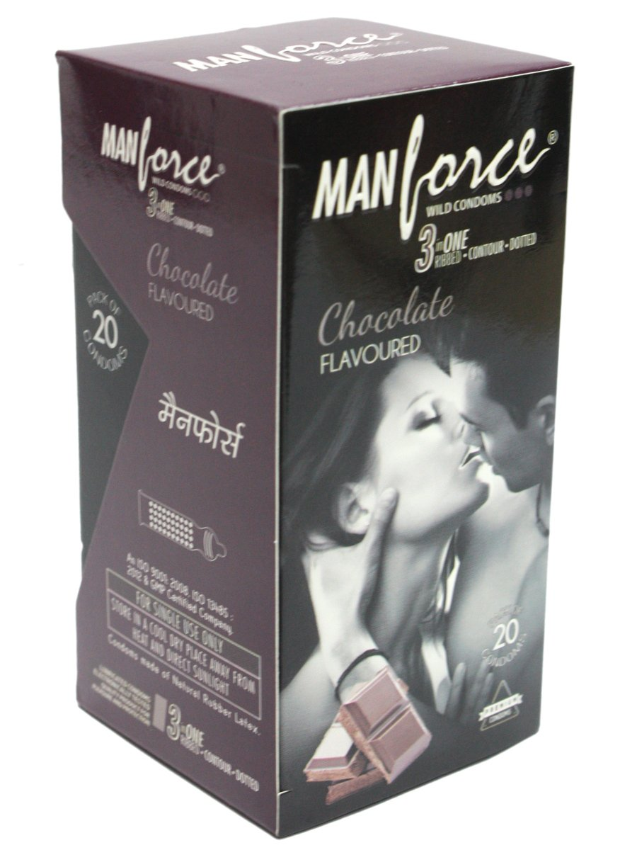 Manforce 3 In 1 Chocolate Flavoured Condoms 20's