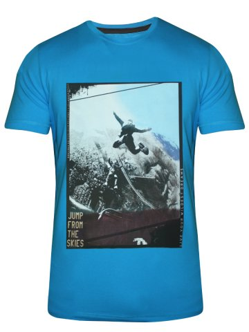 Spykar Turquoise Round Neck T Shirt at cilory