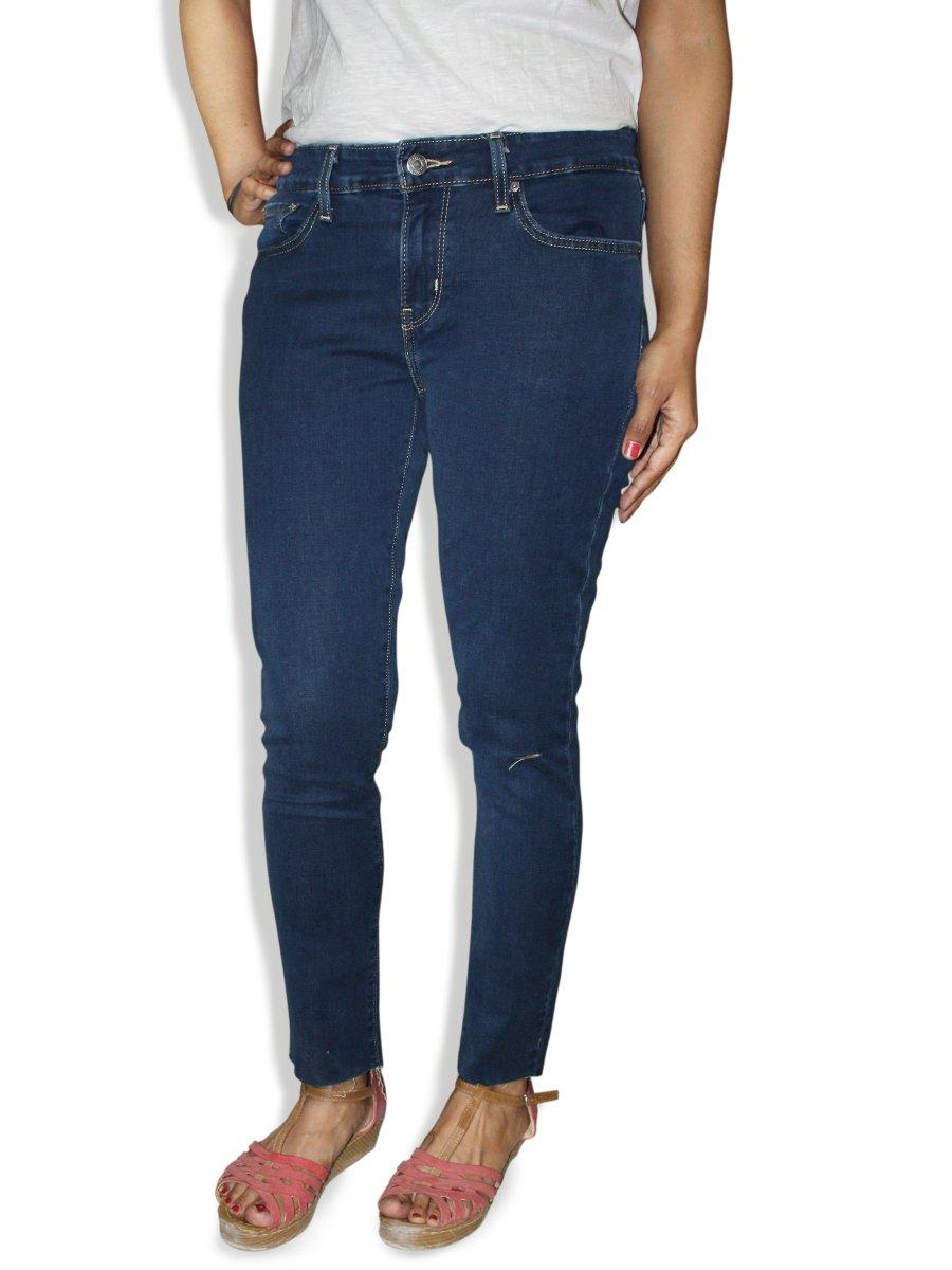 Levis Women 711 Blue Skinny Fit Jeans