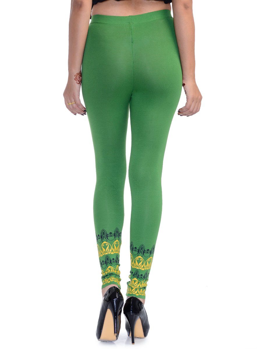 Features: ankle-length leggings with attached skirt, two side pockets, coin pocket, two back pockets, faux fly front. The last picture is the actual leggings. Content: skirt/leggings 95% cotton/5% spa.