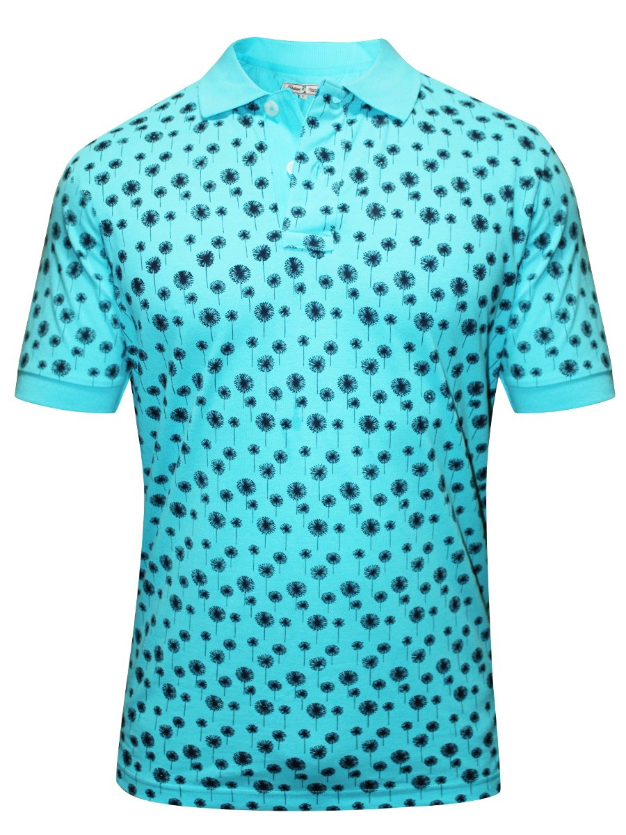 Red tape turquoise printed polo t shirt rph6284 turq for Polo t shirt printing