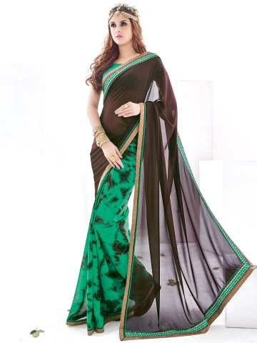https://static5.cilory.com/189012-thickbox_default/look-coffee-green-printed-saree.jpg