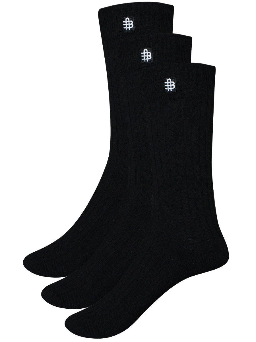 Bonjour Men's Crew Length Socks  Pack of 3