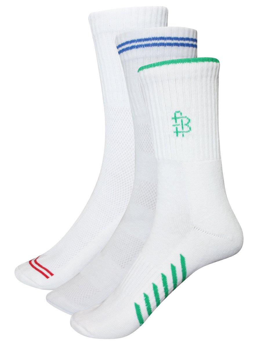 Bonjour Men's Sports Crew Length Socks  Pack of 3