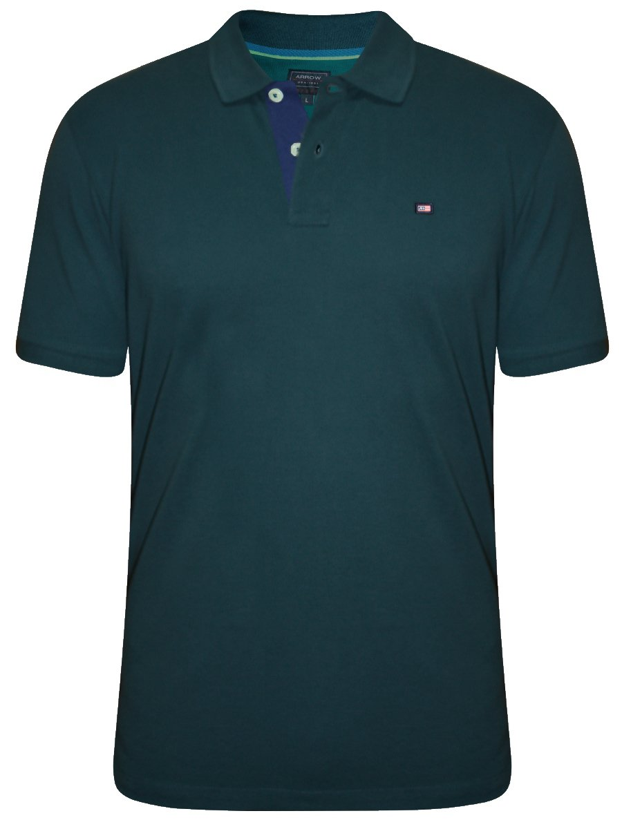 Buy t shirts online arrow teal polo t shirt akss3337 for Mens teal polo shirt