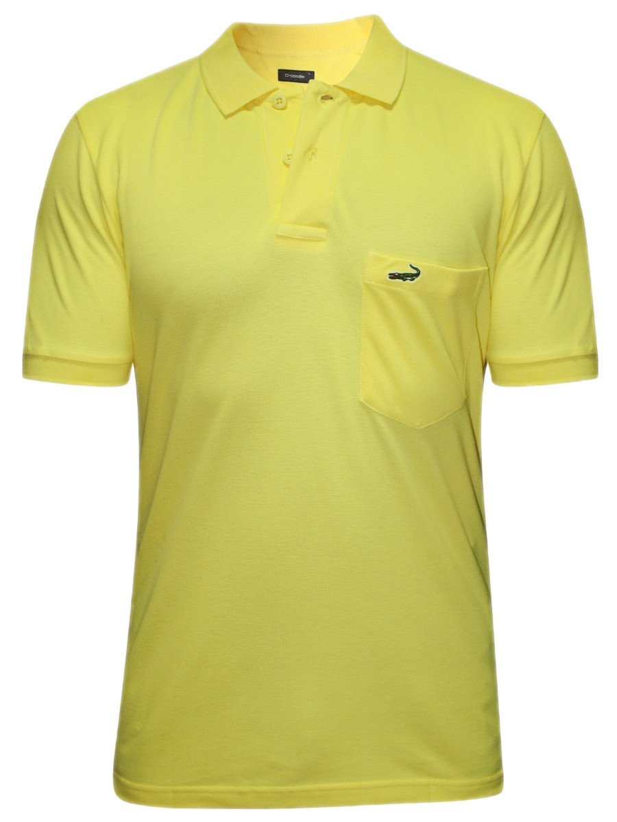 Crocodile yellow pocket polo t shirt aligator wp banana for Polo t shirts with pockets