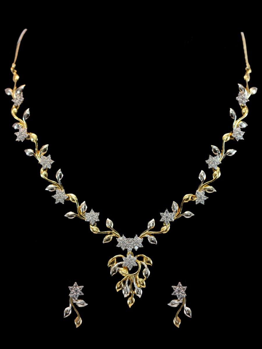 American Diamond Necklace Set C122 Rj21 Cilory Com