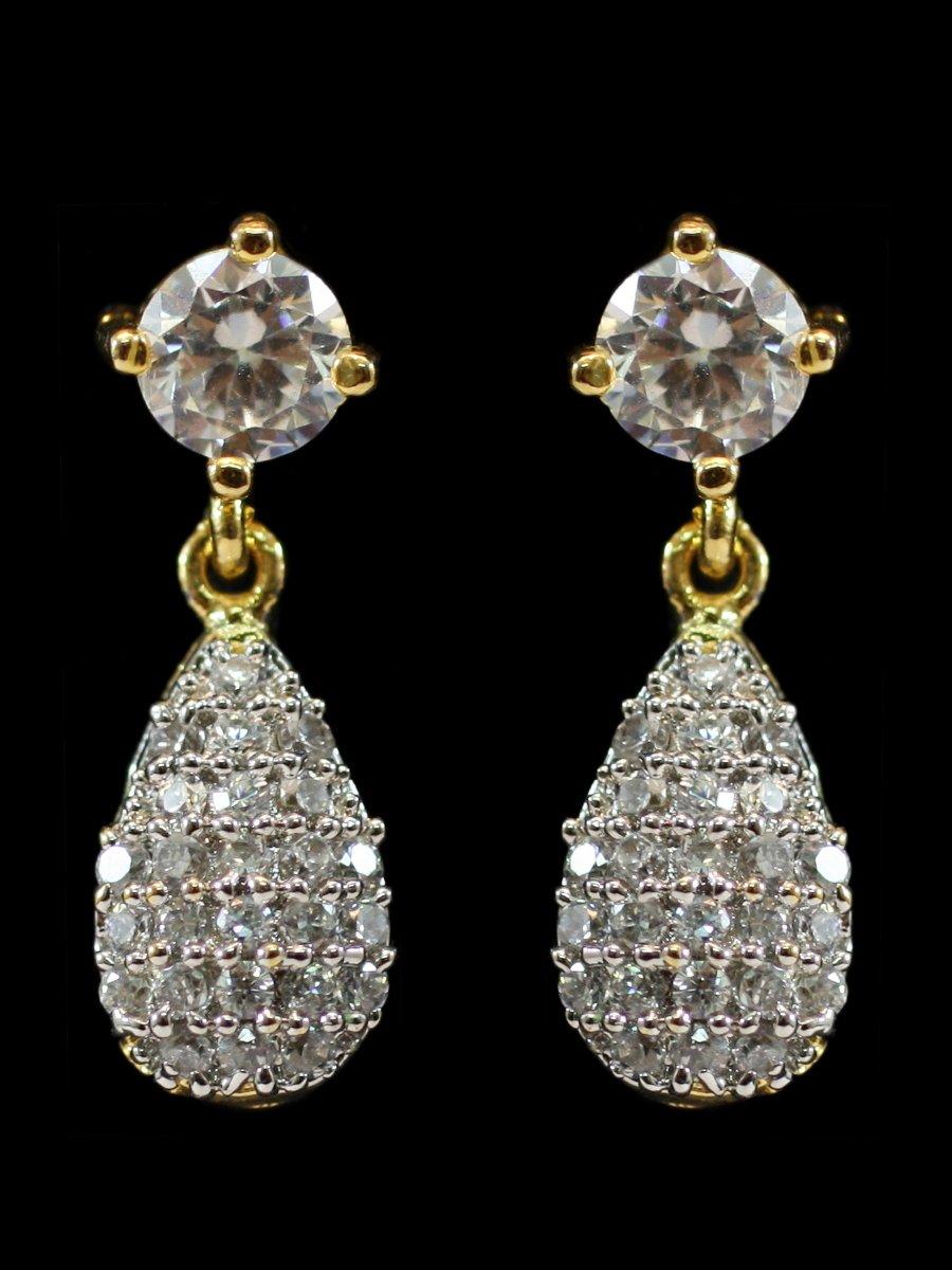 American Diamond Earrings D34 Ae23 Cilory Com