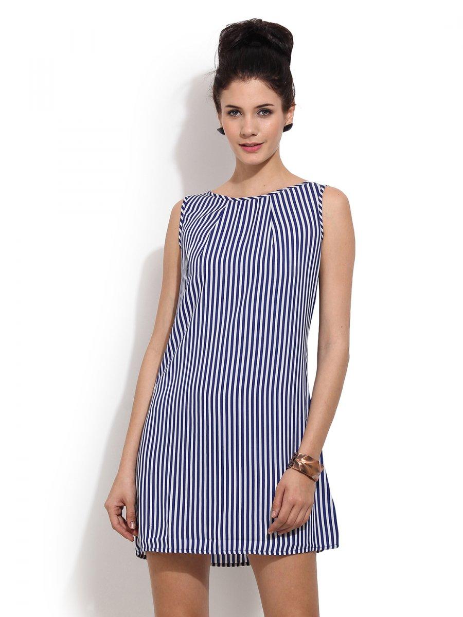 PrimoKnot Blue   White Mini Dress
