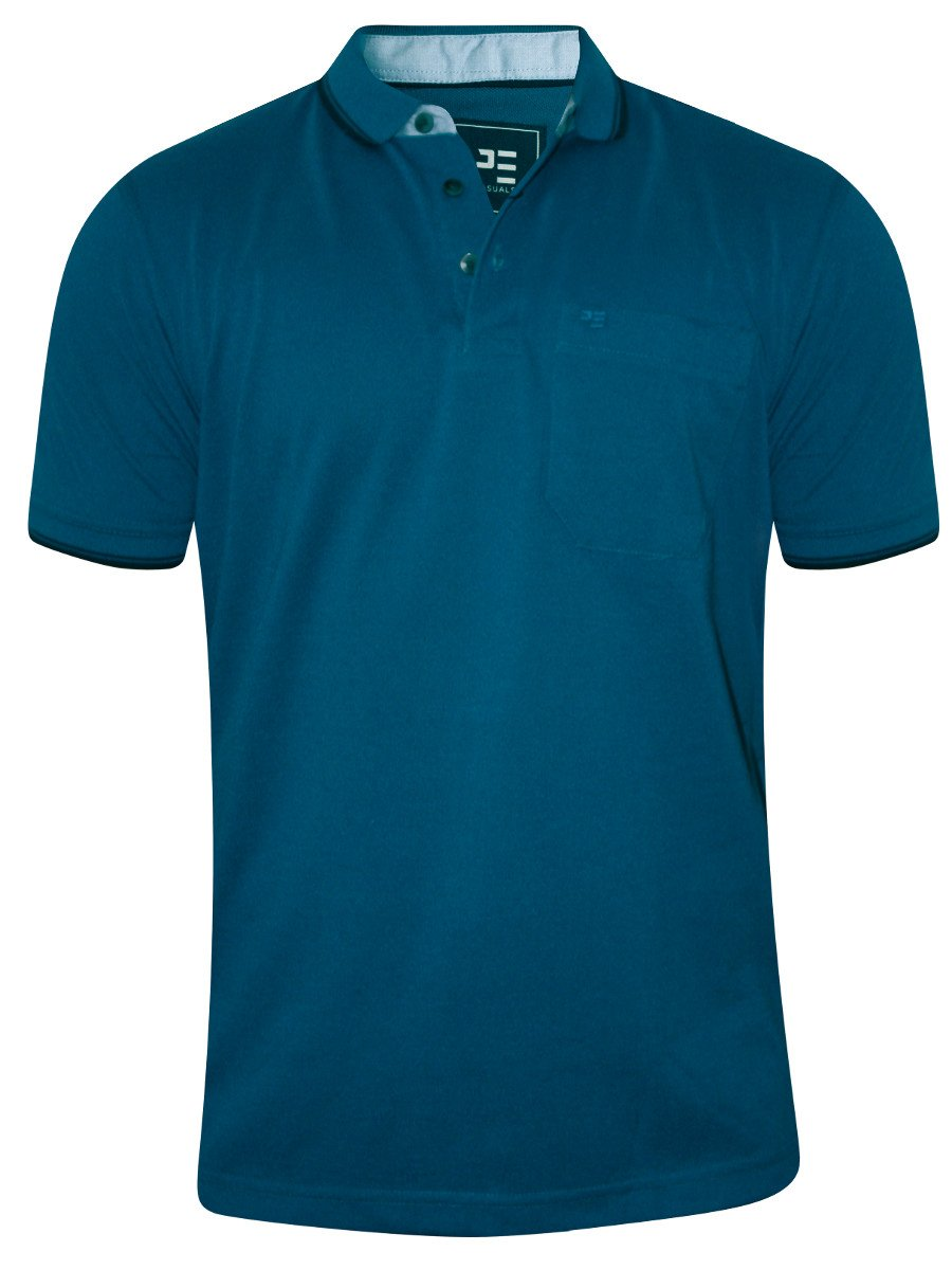 Peter england teal pocket polo t shirt pkw51600427 hs for Mens teal polo shirt