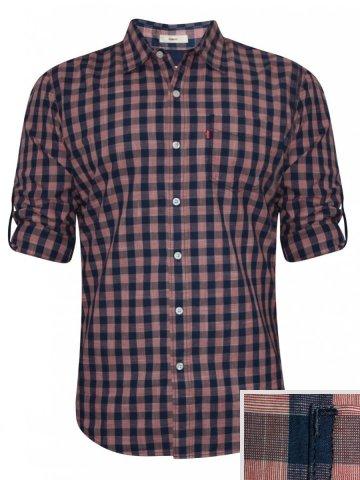 Levis Pure Cotton Peach Checks Shirt at cilory
