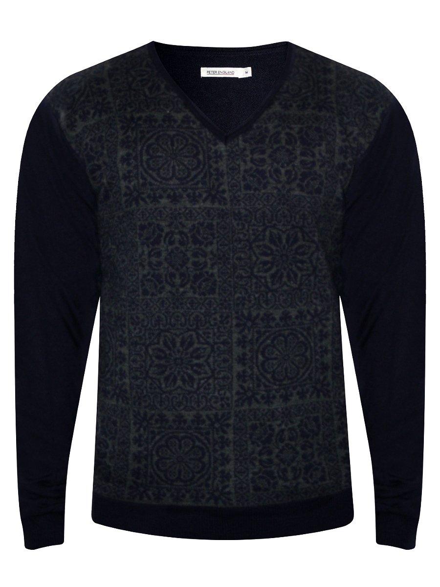 Peter England Navy Sweater