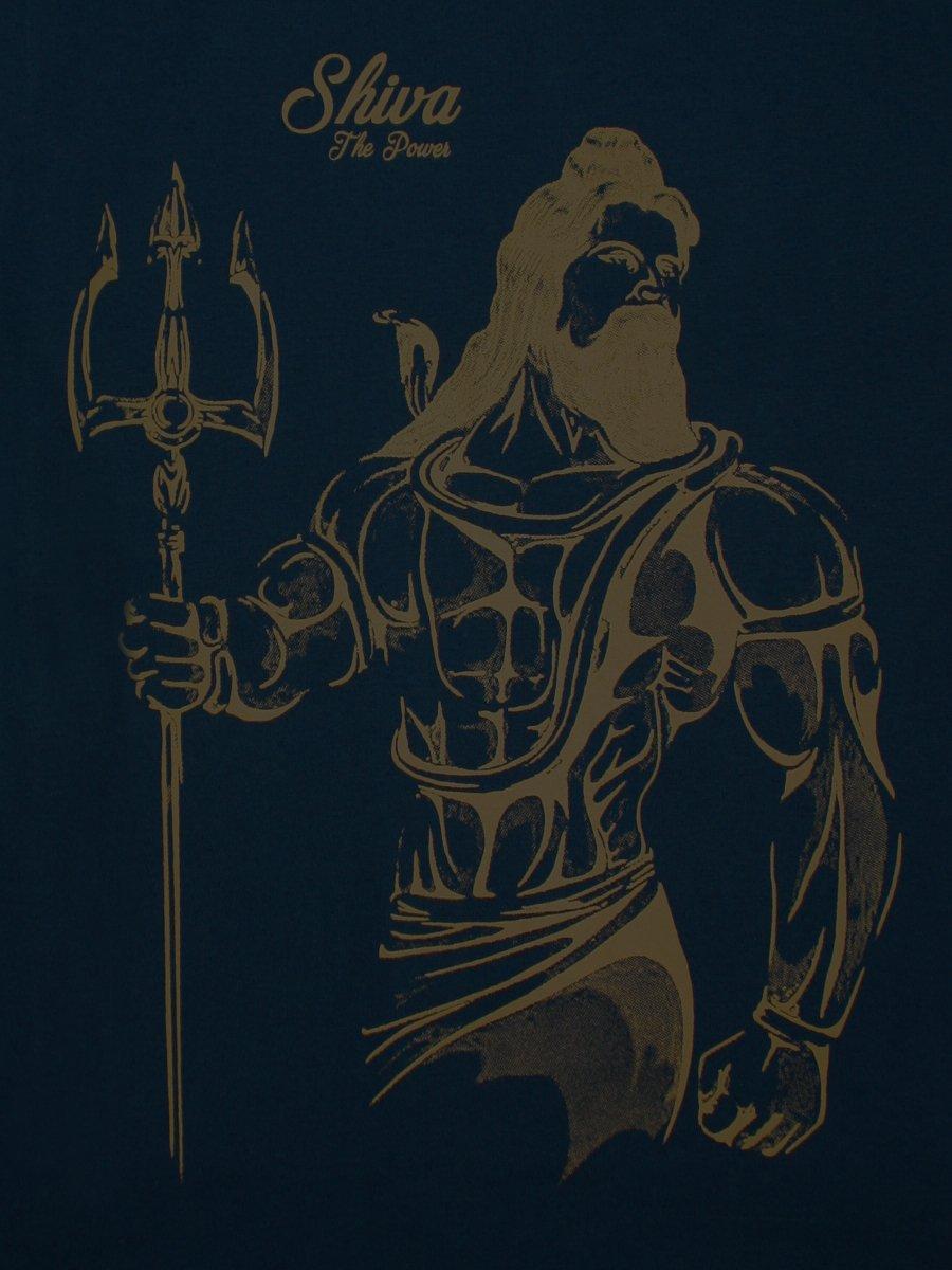 4e5869e657e Shiva Navy Round Neck T-Shirt