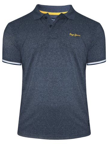 7dee7f4c >Pepe Jeans Navy Melange Polo T-Shirt.  https://static4.cilory.com/239215-thickbox_default/pepe-