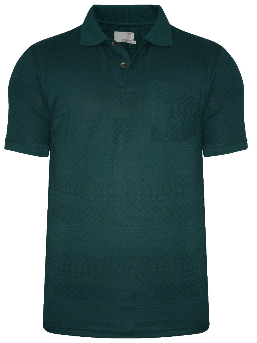 Buy t shirts online peter england dark green polo t for Dark green mens polo shirt