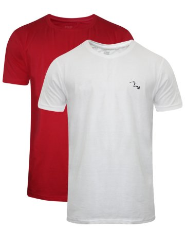 Spykar Round Neck T-Shirt (Pack of 2) at cilory