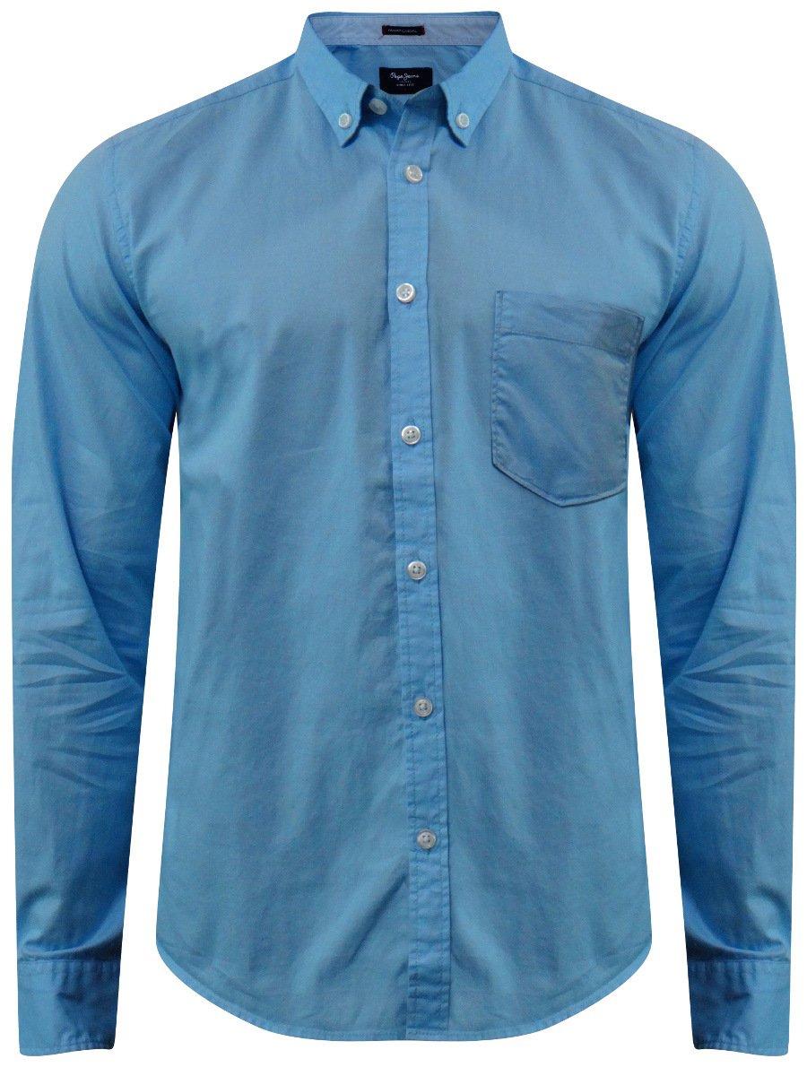 pepe jeans sky blue casual shirt pimw100022 sky blue