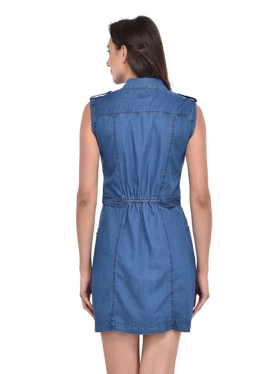 pepe jeans blue dress pilw100006 mid blue. Black Bedroom Furniture Sets. Home Design Ideas