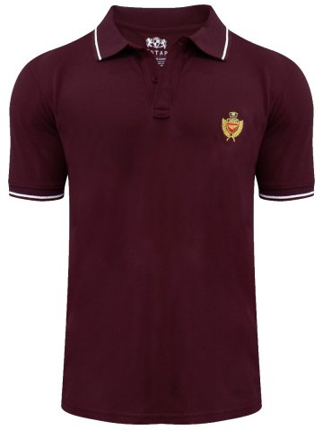 Buy T Shirts Online Red Tape Maroon Polo T Shirt