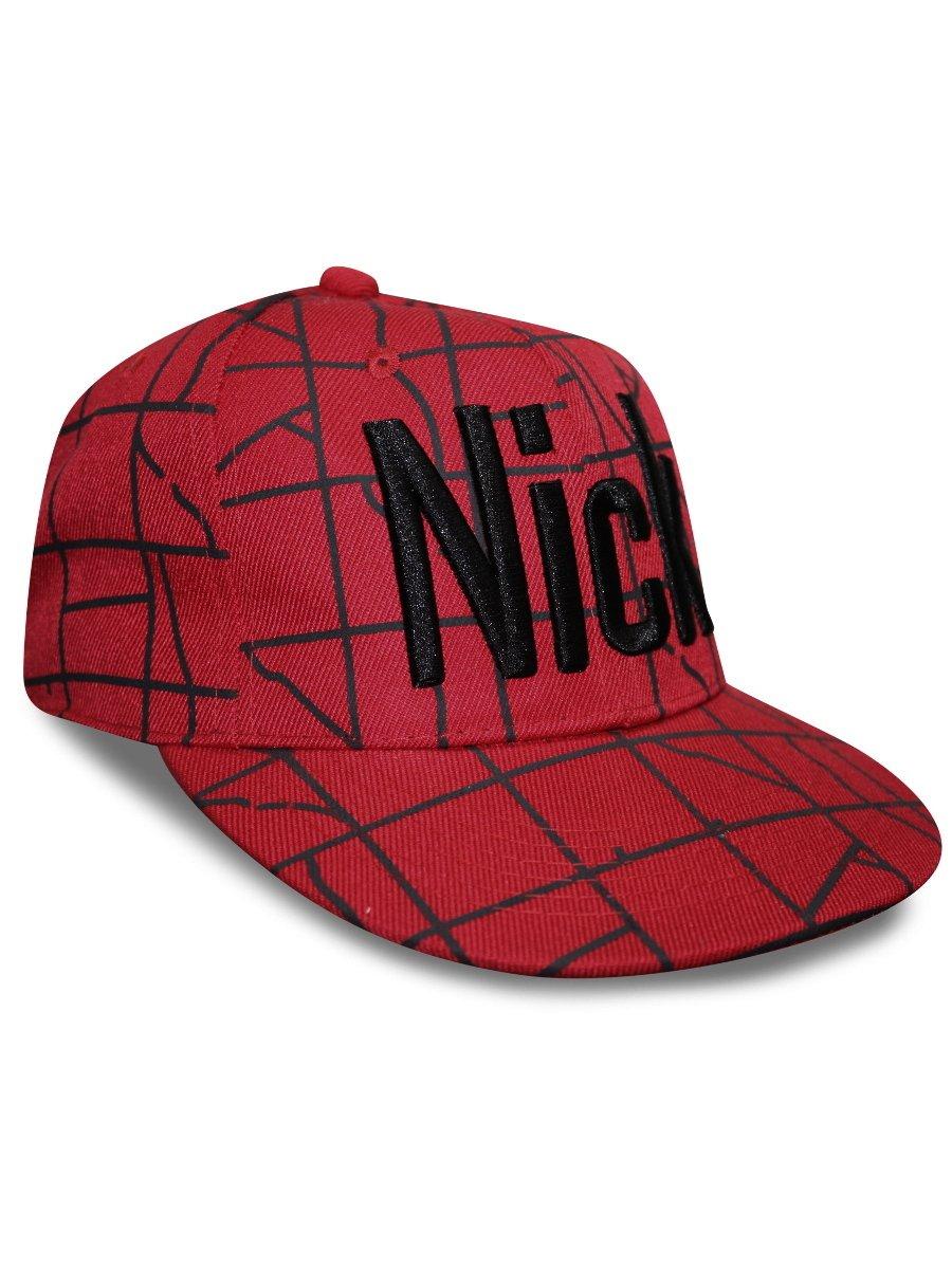 NoLogo Red Snapback Cap
