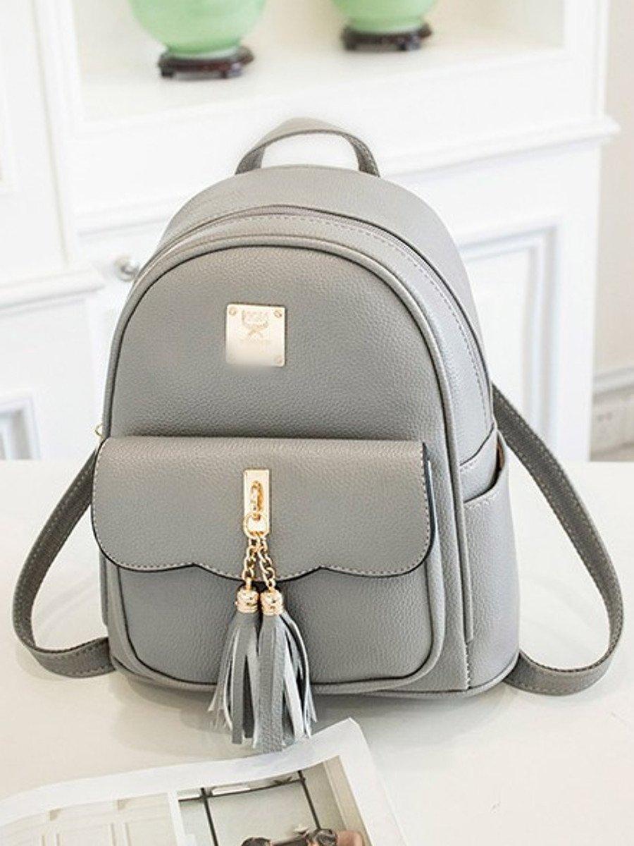 NoLogo Grey college wind backpack