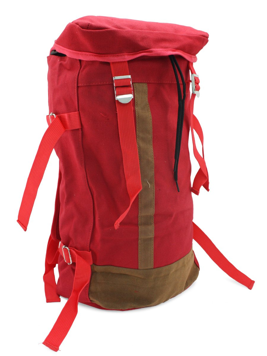 NoLogo Red canvas Backpack