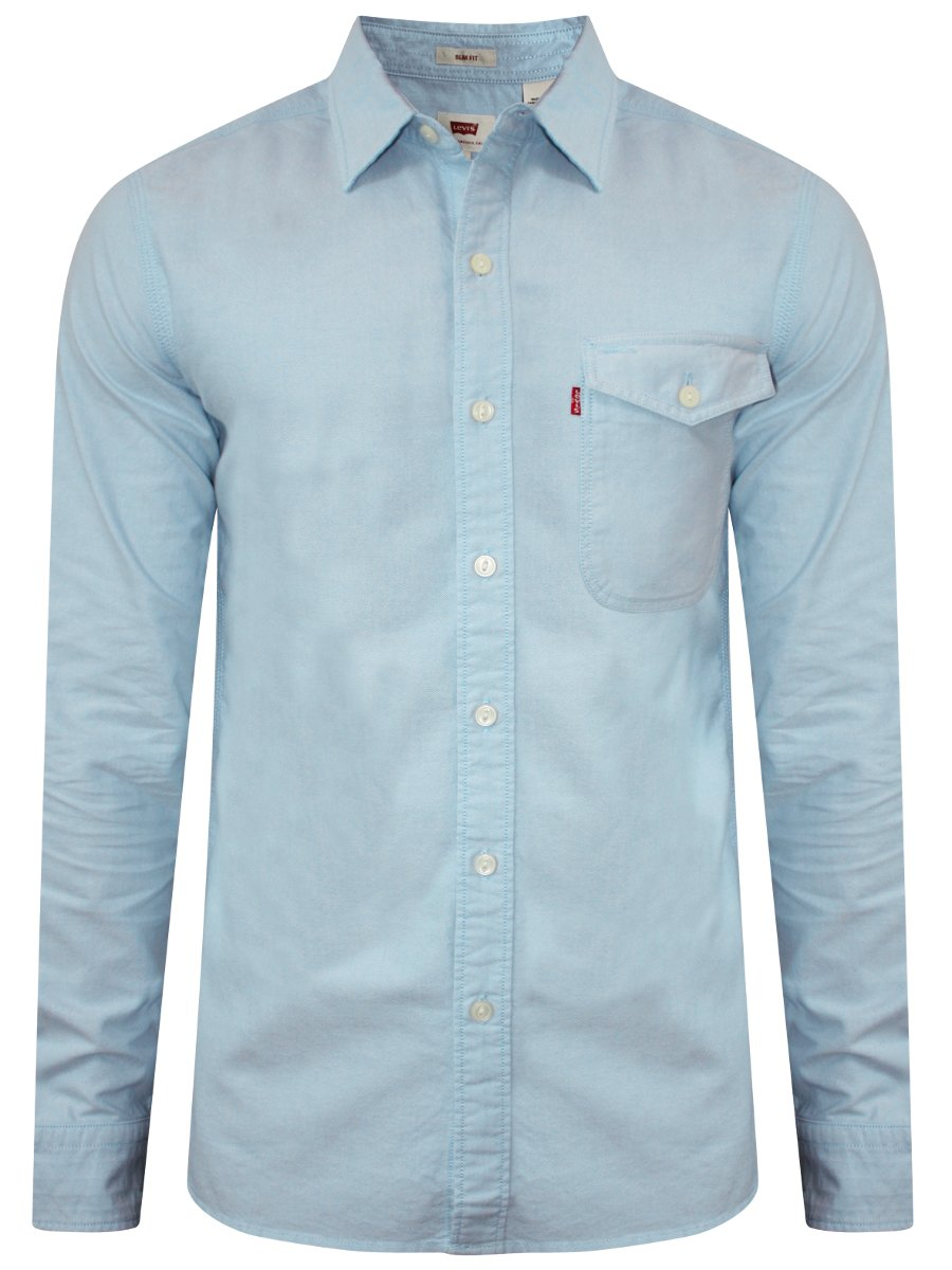 levis sky blue casual denim shirt 17654 0024. Black Bedroom Furniture Sets. Home Design Ideas