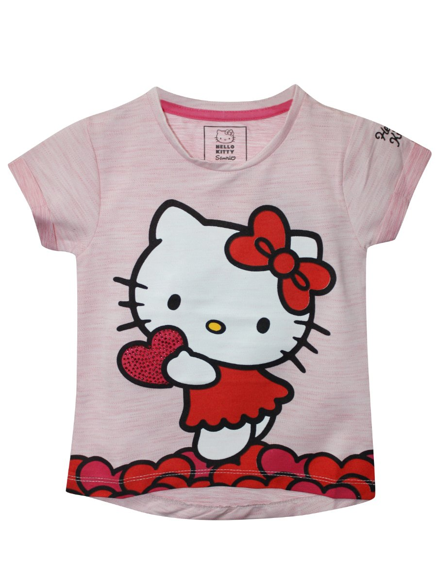 Hello kitty Light Pink Tee for Girls