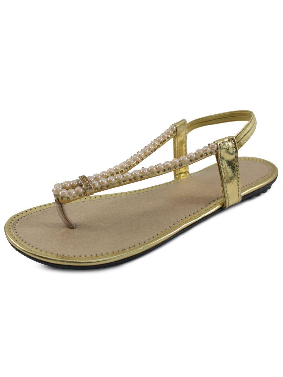 Estonished Golden Women Flats