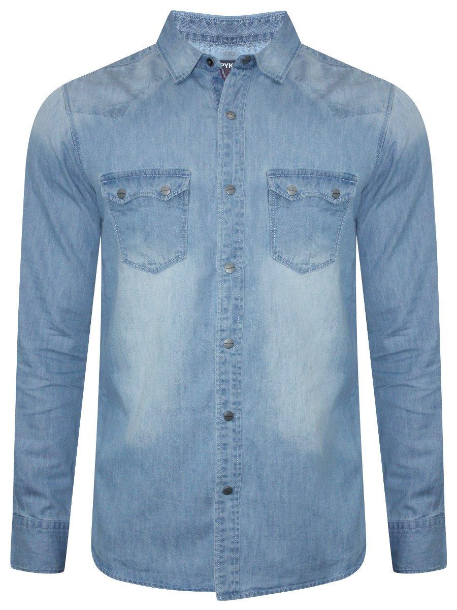 Spykar Light Blue Casual Denim Shirt