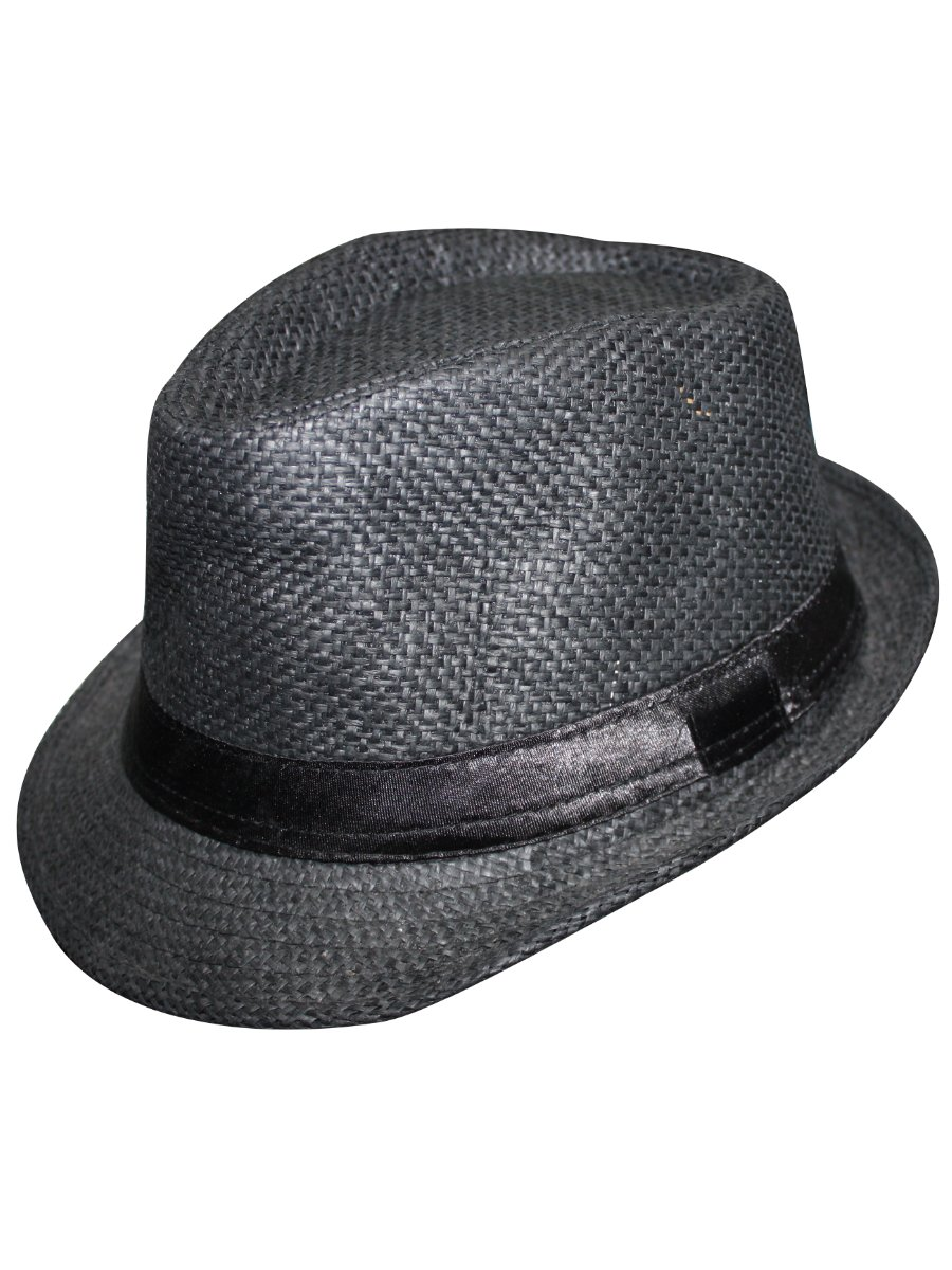 Estonished Black Fedora Hat