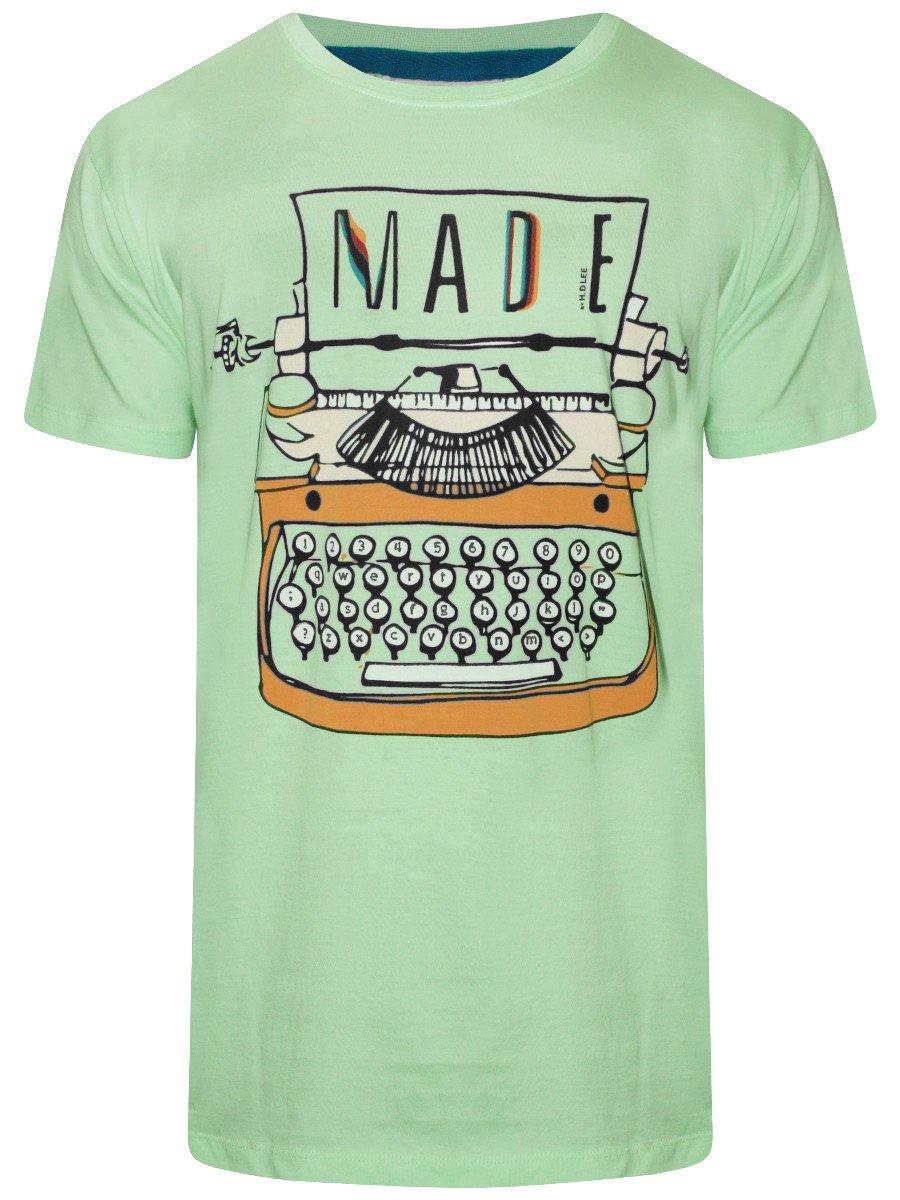 Lee Light Green Round Neck T Shirt