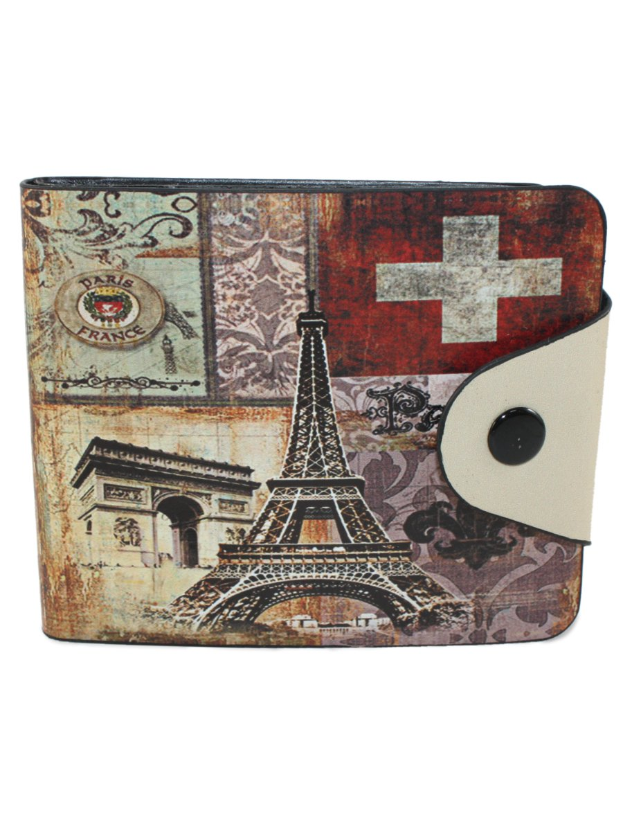 Printed Men's Leather Wallet