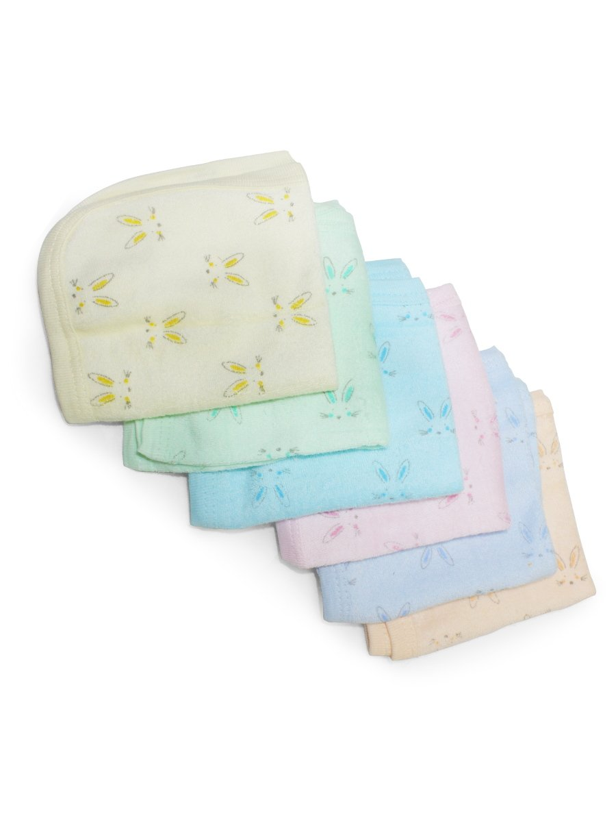 Pumpoosh Multicolor Face Napkins  Pack of 6  for Boys