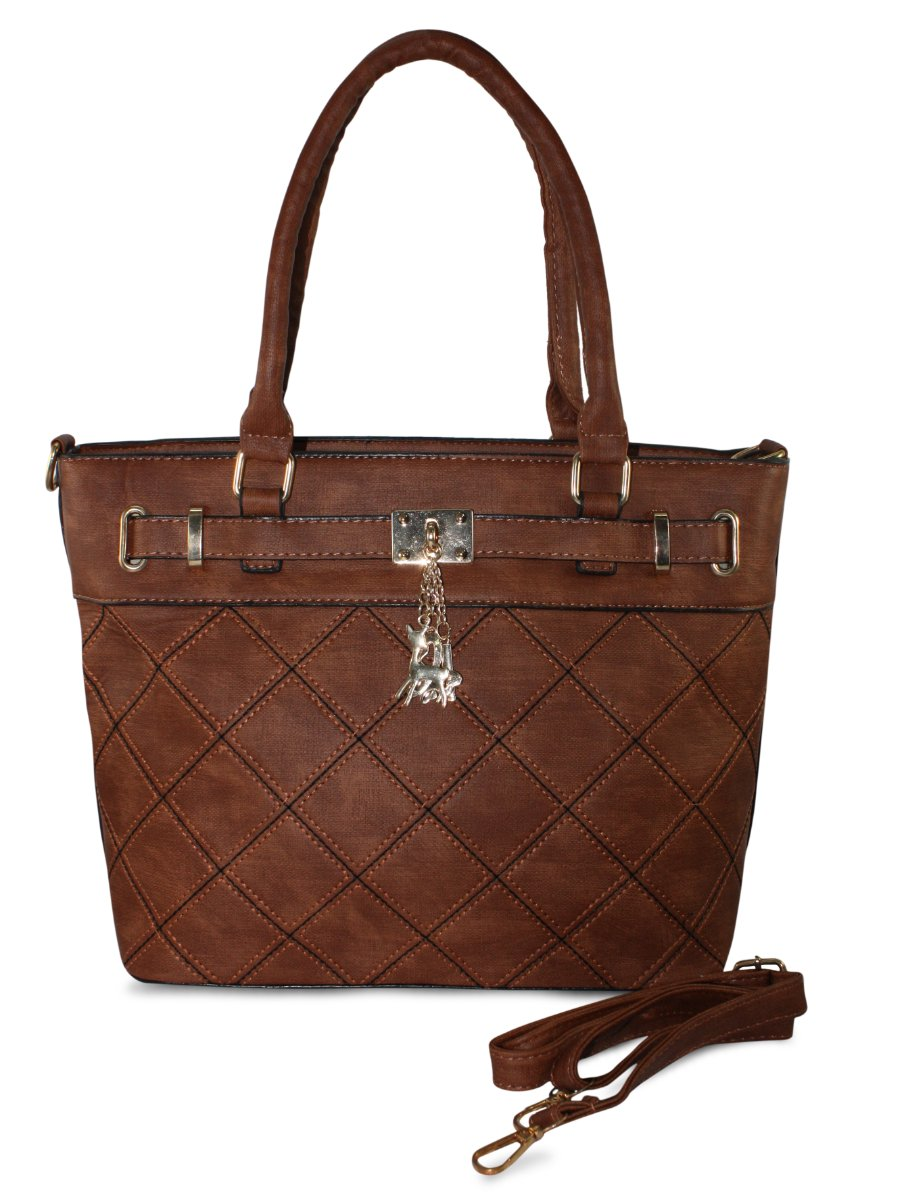Estonished Brown Medium Tote Bag