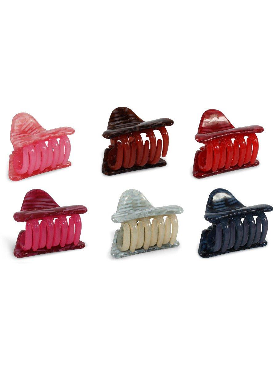 Estonished Multicolor Medium Clutcher  Pack Of 6