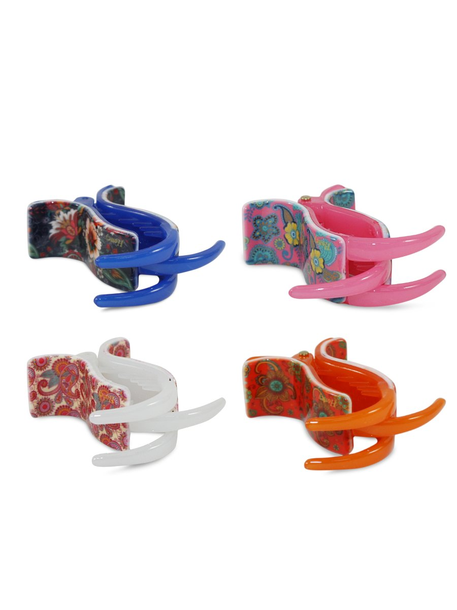 Estonished Multicolor Medium Clutcher  Pack Of 4