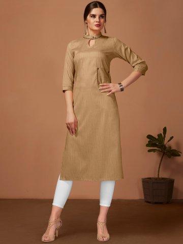 https://static.cilory.com/388974-thickbox_default/brown-khadi-cotton-kurti-with-pocket.jpg