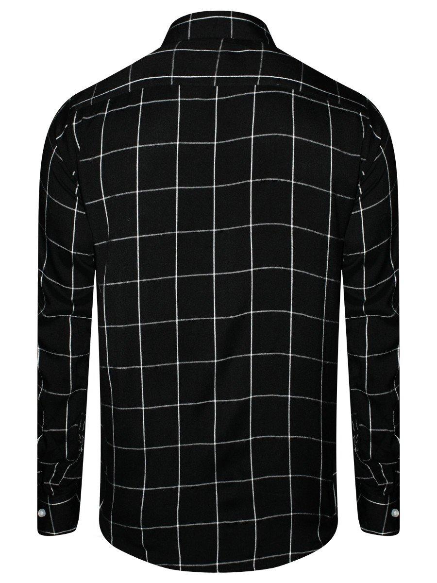 16dc945b Nologo Pure Cotton Black Shirt | Nologo-mjcs-418 | Cilory.com
