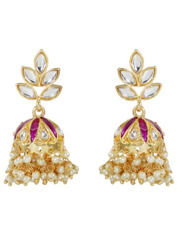 https://static8.cilory.com/399422-thickbox_default/golden-pink-polki-work-jhumkis.jpg