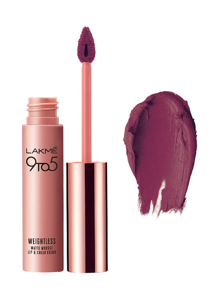 Lakme 9 to 5 Weightless Matte Mousse Lip   Cheek Color
